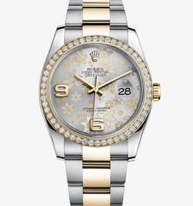 replika Rolex Datejust 36 mm ur : gul Rolesor - kombination af 9