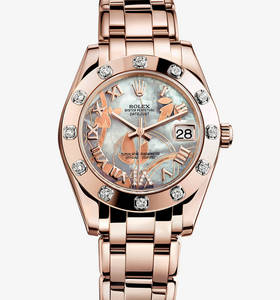 Replik Rolex Datejust Special Edition Uhr: 18 ct Everose gold - m81315 -0011