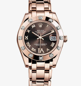 Replik Rolex Datejust Special Edition Uhr: 18 ct Everose gold - m81315 -0003