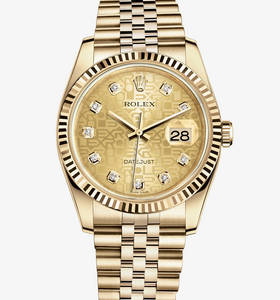 Datejust reloj 36 mm rolex replica : 18 ct oro amarillo - m116238 -0058