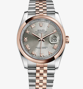 rolex replica montre Datejust : Everose Rolesor - combinaison d'acier 904l et or Everose 18 ct - m116201 -0071
