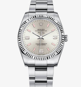 rolex replica watch air-king : Rolesor blanc - combinaison d'acier 904l et 18 ct en or blanc - m114234 -0010
