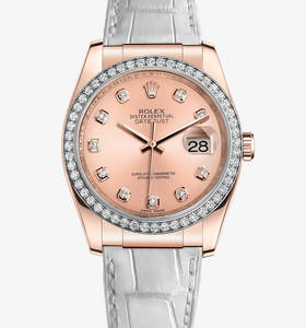 replika Rolex Datejust 36 mm ur : 18 karat everose guld - m11618