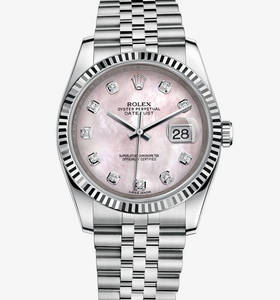 replica rolex datejust 36 mm watch: white rolesor - combination of 904l steel and 18 ct white gold – m116234-0104