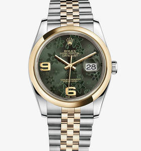 replica rolex datejust 36 mm watch: yellow rolesor - combination of 904l steel and 18 ct yellow gold – m116203-0162