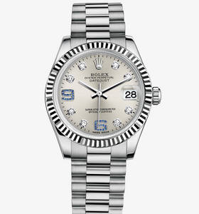 replica rolex datejust lady 31 watch: 18 ct white gold – m178279-0080