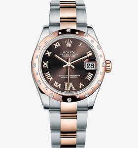 Replica Rolex Datejust lady 31 kellon : everose rolesor - yhdist