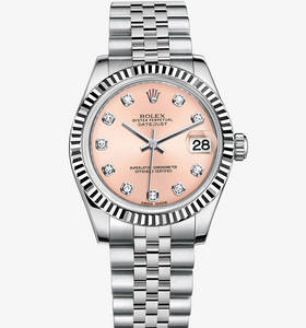 replica rolex datejust lady 31 watch: white rolesor - combination of 904l steel and 18 ct white gold – m178274-0022