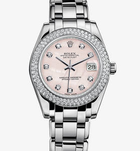 replica rolex datejust special edition watch: 18 ct white gold – m81339-0006