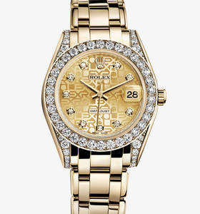 replica rolex datejust special edition watch: 18 ct yellow gold – m81158-0018