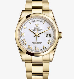 replica rolex day-date watch: 18 ct yellow gold – m118208-0087