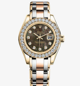replica rolex lady-datejust pearlmaster watch: 18 ct yellow gold – m80298-0002