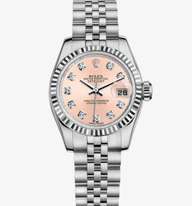 replica rolex lady-datejust watch: white rolesor - combination of 904l steel and 18 ct white gold – m179174-0007