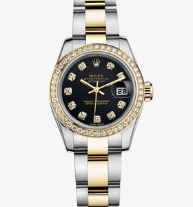 replica rolex lady-datejust watch: yellow rolesor - combination of 904l steel and 18 ct yellow gold – m179383-0030