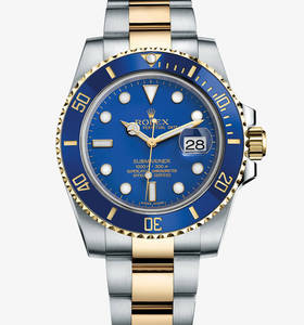 replica rolex submariner date watch: yellow rolesor - combination of 904l steel and 18 ct yellow gold – m116613lb-0001