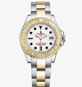 replica rolex yacht-master watch: yellow rolesor - combination of 904l steel and 18 ct yellow gold – m169623-0007