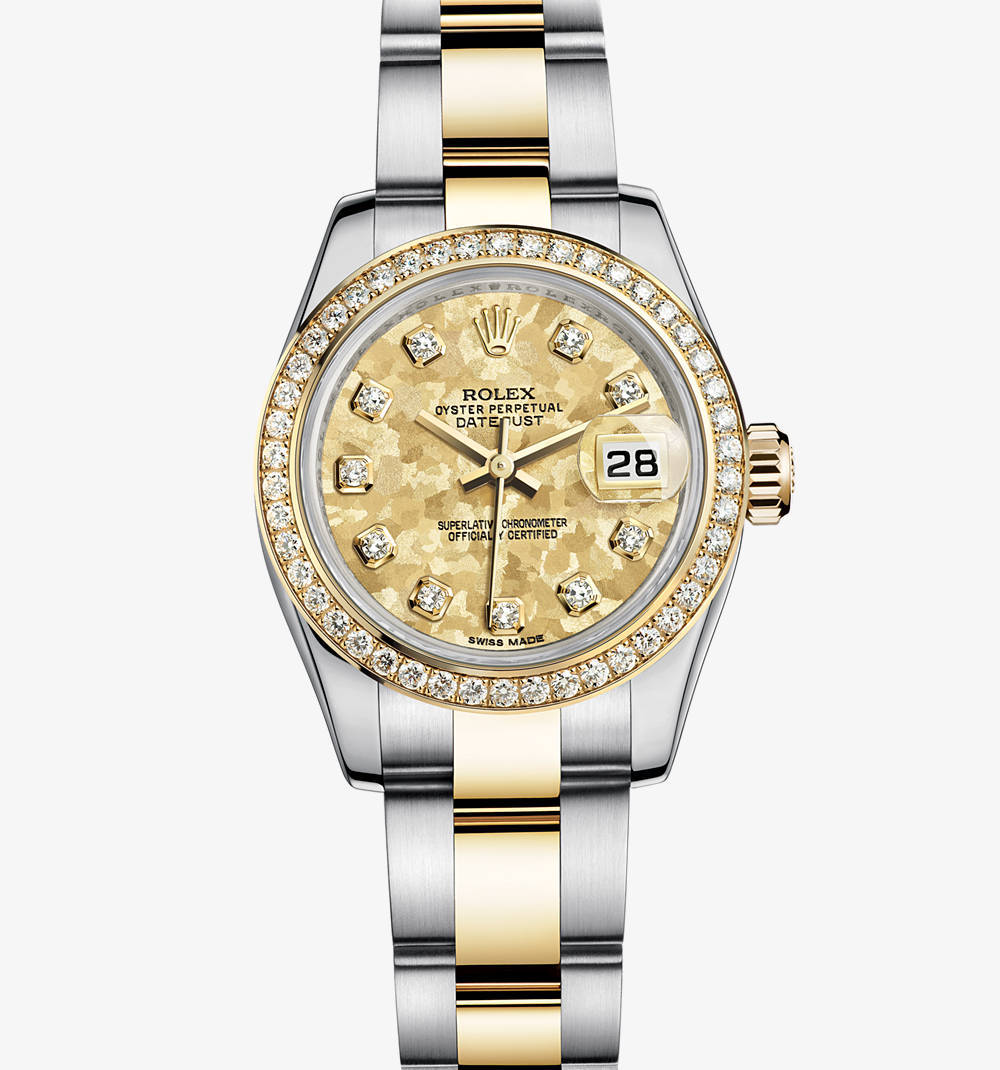 replica rolex lady-datejust watch: yellow rolesor - combination of 904l steel and 18 ct yellow gold – m179383-0007