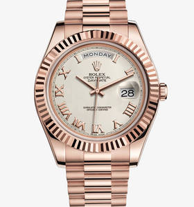 replica rolex day-date watch ii : 18 ct oro Everose - m218235 - 0033