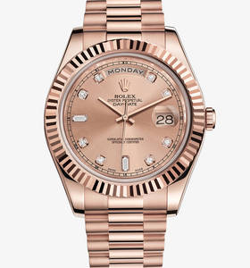 replica rolex day-date watch ii : 18 ct oro Everose - m218235 -0008