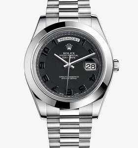 replica rolex day-date watch ii : platinum - m218206 - 0003