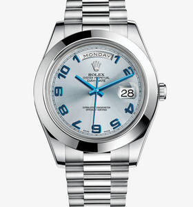 replica rolex day-date watch ii : platinum - m218206 - 0010