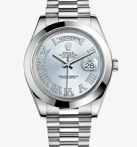replica rolex day-date watch ii : platinum - m218206 - 0052