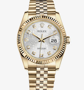 replica Rolex Datejust 36 mm horloge : 18 karaat geelgoud - m116238 - 0069