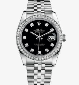 replica Rolex Datejust 36 mm horloge : wit rolesor - combinatie van 904L staal en 18 karaat witgoud - m116244 - 0014