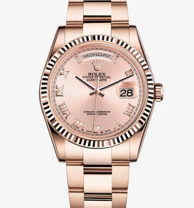 Replica Rolex Day-Date horloge: 18 ct everose goud - m118235f - 0056