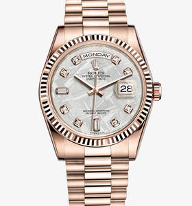 Replica Rolex Day-Date horloge: 18 ct everose goud - m118235f - 0026
