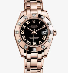 replika Rolex Datespecialutgåvawatch : 18 ct everose guld - m81315 - 0015