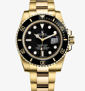 replika Rolex Submariner datum watch : 18 karat gult guld - m116618ln - 0001